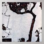 Egon Schiele - árbol de ciruelo Póster