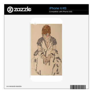 Egon Schiele- Artist's Sister in Law iPhone 4 Decal