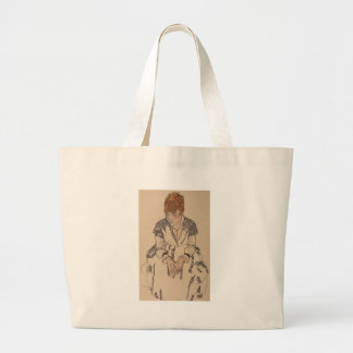 Egon Schiele- Artist's Sister in Law Large Tote Bag