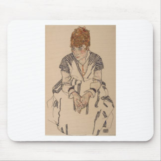 Egon Schiele- Artist's Sister in Law Mouse Pad