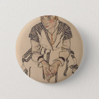 Egon Schiele- Artist's Sister in Law Pinback Button