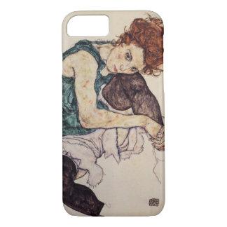 Egon Schiele asentó la caja del iPhone 7 de la Funda iPhone 7