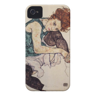 Egon Schiele asentó la caja del iPhone de la mujer Carcasa Para iPhone 4