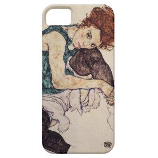 Egon Schiele asentó la caja del iPhone de la mujer iPhone 5 Funda
