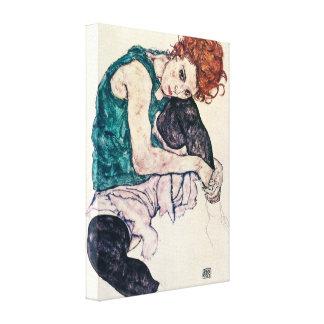 Egon Schiele asentó la impresión de la lona de la  Impresion En Lona