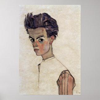 Egon Schiele - autorretrato Póster