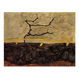 Egon Schiele- Bare Tree behind a Fence Postcard