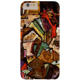 Egon Schiele - borde de la ciudad Funda De iPhone 6 Plus Barely There