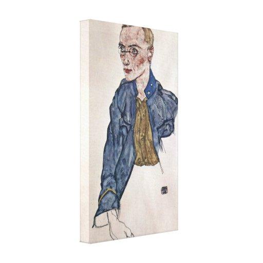 Egon Schiele - cabo voluntario Impresion En Lona