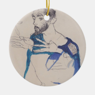 'Egon Schiele' Ceramic Ornament