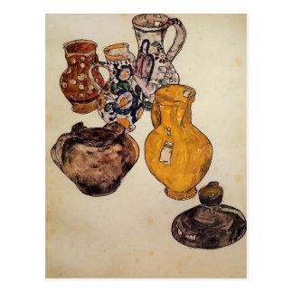 Egon Schiele- Ceramics Postcard