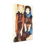 Egon Schiele - chicas Impresión En Lienzo Estirada