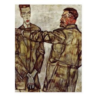 Egon Schiele- Double Portrait Postcard