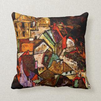 Egon Schiele - Edge of Town Throw Pillow