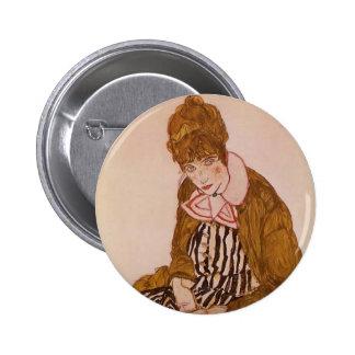 Egon Schiele- Edith Schiele Seated Pin