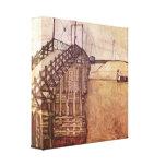 Egon Schiele - el puente Impresión En Lienzo Estirada