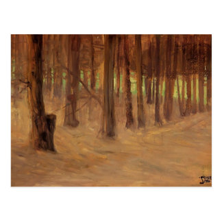 Egon Schiele- Forest with Sunlit Clearing Post Card