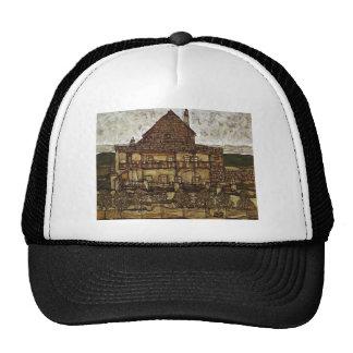 Egon Schiele- House with Shingles Hats