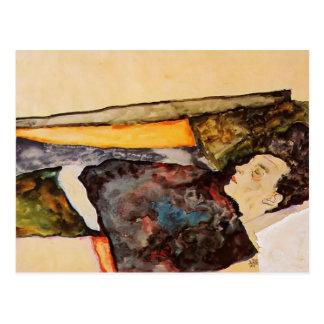 Egon Schiele- la madre del artista, durmiendo Tarjetas Postales