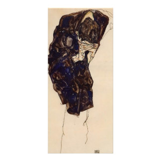 Egon Schiele- Man Bencind Down Deeply Personalized Rack Card