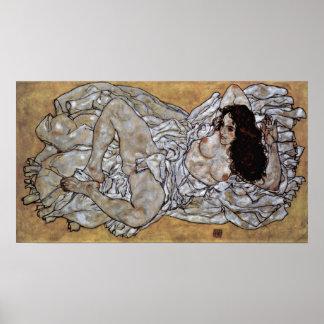 Egon Schiele - mujer de mentira Poster
