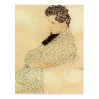 Egon Schiele- Portrait of Arthur Lowenstein Postcard
