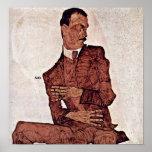 Egon Schiele - Portrait of Arthur Roessler Posters