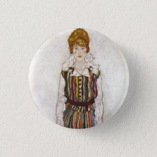 Egon Schiele Portrait of Edith Schiele Button
