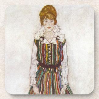 Egon Schiele Portrait of Edith Schiele Coasters