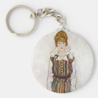 Egon Schiele Portrait of Edith Schiele Key Chain