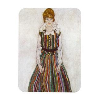 Egon Schiele Portrait of Edith Schiele Magnet