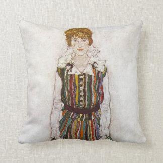 Egon Schiele Portrait of Edith Schiele Pillow