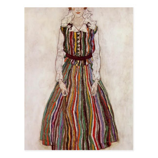 Egon Schiele- Portrait of Edith Schiele Postcard