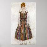 Egon Schiele Portrait of Edith Schiele Poster