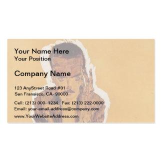Egon Schiele- Portrait of Eduard Kosmack Business Card Templates