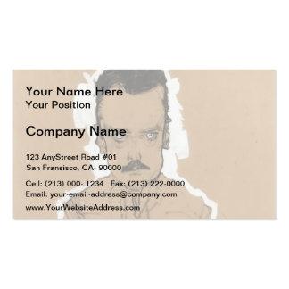 Egon Schiele- Portrait of Eduard Kosmack Business Card