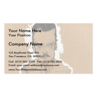 Egon Schiele- Portrait of Eduard Kosmack Business Card Template