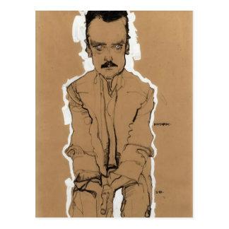 Egon Schiele- Portrait of Eduard Kosmack Postcard