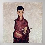 Egon Schiele - Portrait of Herbert Rainer Poster
