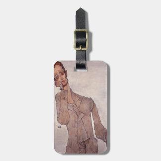 Egon Schiele- Portrait of Karl Zakovsek Luggage Tag