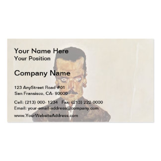 Egon Schiele- Portrait of Publisher Eduard Kosmack Business Card Template