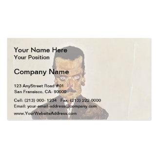 Egon Schiele- Portrait of Publisher Eduard Kosmack Business Card Templates