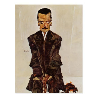 Egon Schiele- Portrait of Publisher Eduard Kosmack Postcard