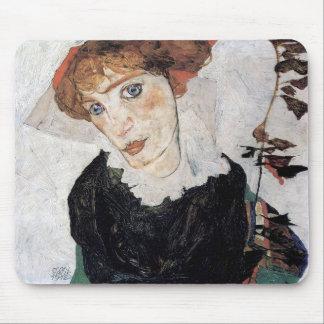 "Egon Schiele, ""Portrait of Wally"" Mouse Pad"