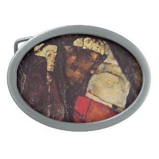 Egon Schiele- Pregnant woman and Death Oval Belt Buckles