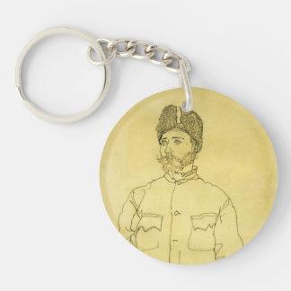 Egon Schiele- Russian Prisoner of War with Fur Hat Acrylic Key Chains