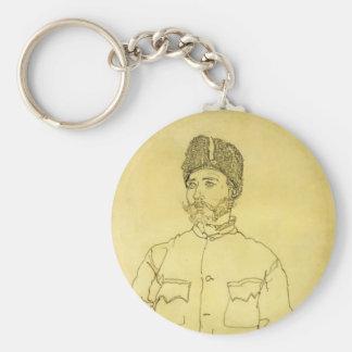 Egon Schiele- Russian Prisoner of War with Fur Hat Key Chains