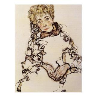 Egon Schiele- Sarena Lederer Postal