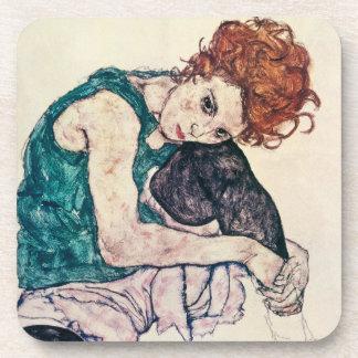 Egon Schiele Seated Woman Coasters