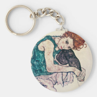 Egon Schiele Seated Woman Key Chain